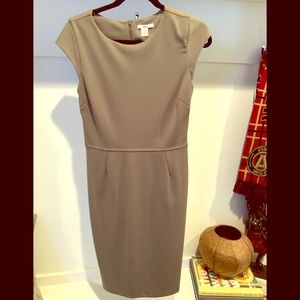 Tan fitted dress